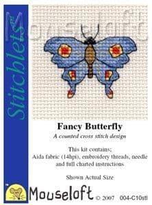 Mouseloft Fancy Butterfly Stitchlets cross stitch kit